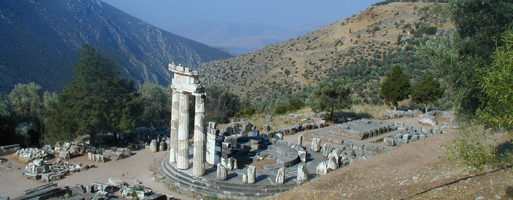 The Sanctuary of Athena Pronaia, Delphi, Ancient Greece