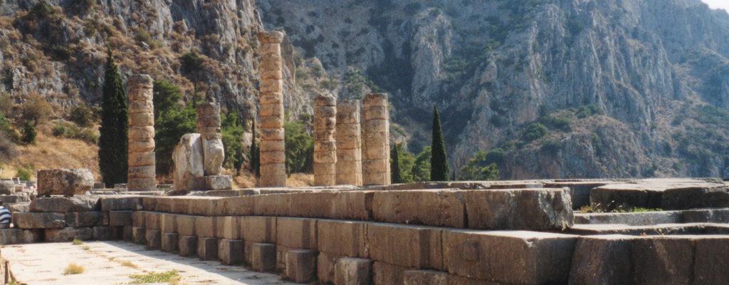 The Temple of Apollo, Delphi, Ancient Greece