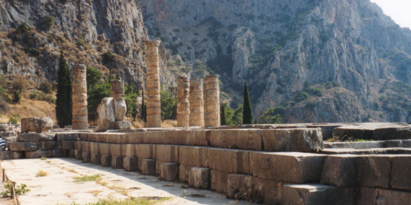 The Temple of Apollo, Delphi, Ancient Greece