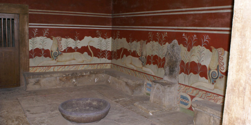 The Throne Room, Palace of Knossos, Crete, Ancient Greece