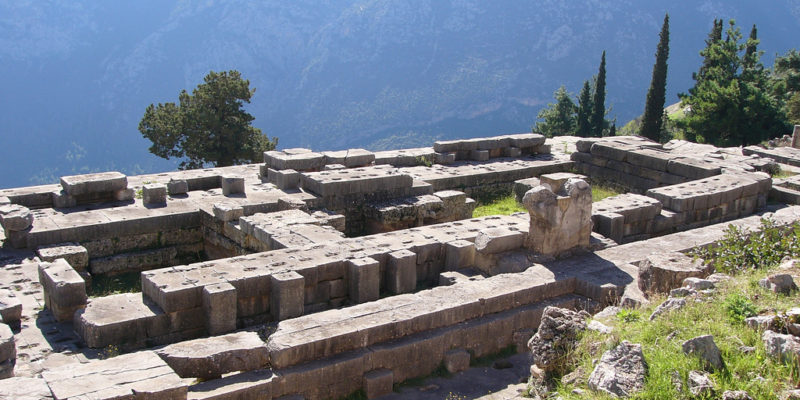The Sanctuary of Apollo, Delphi, Ancient Greece