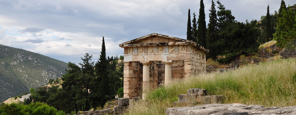 The Treasury of the Athenians, Delphi, Ancient Greece