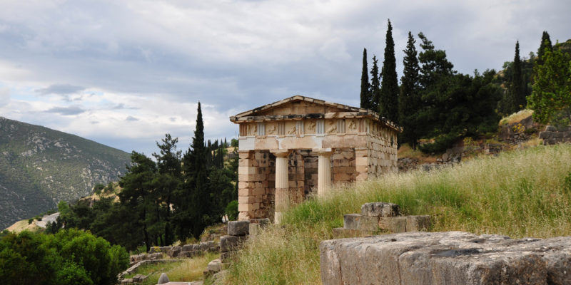 The Treasury of the Athenians, Delphi, Ancient Greece