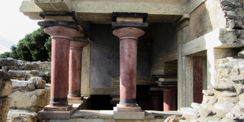 Ala ovest del cortile centrale, Palazzo di Cnosso, Creta, Antica Grecia