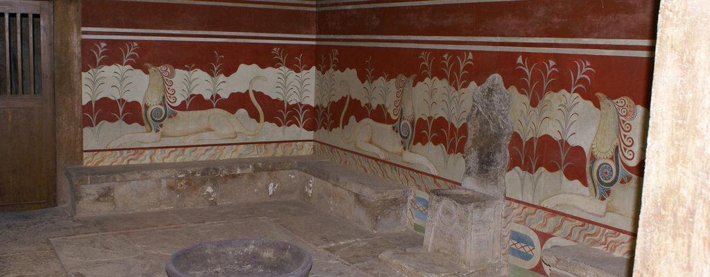 Sala del Trono del Palazzo di Cnosso, Creta, Antica Grecia